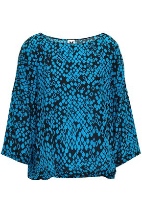 M MISSONI Draped printed silk top