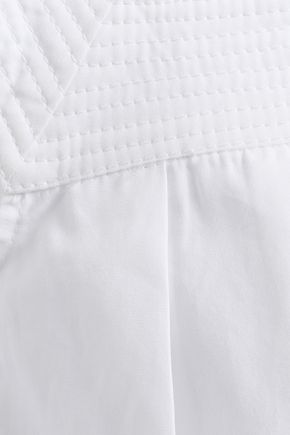CLAUDIE PIERLOT Brave bow-embellished cotton-poplin top