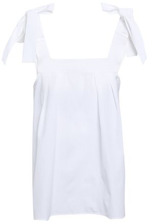 CLAUDIE PIERLOT Brave bow-embellished cotton-poplin top