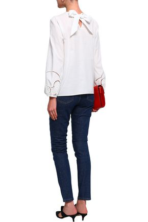 CLAUDIE PIERLOT Embroidered cotton blouse
