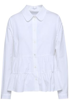 CLAUDIE PIERLOT Gathered cotton-poplin shirt