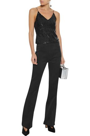 ALICE + OLIVIA Delray sequined stretch-tulle camisole
