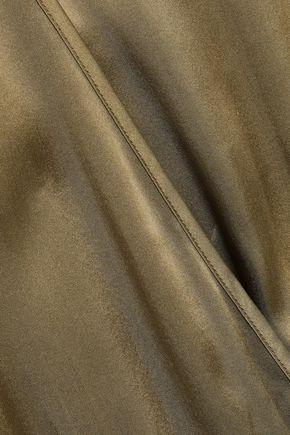 CAMI NYC Wrap-effect silk-satin and stretch-jersey bodysuit