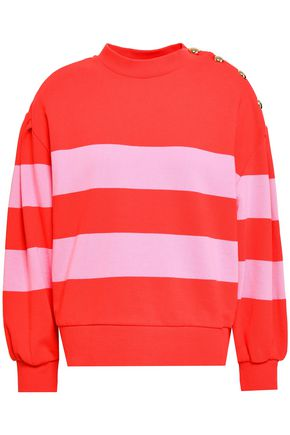 CLAUDIE PIERLOT Striped French cotton-terry sweatshirt