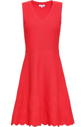 CLAUDIE PIERLOT Scalloped ponte mini dress