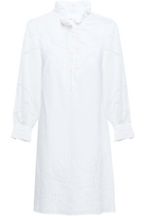 CLAUDIE PIERLOT Embroidered cotton-gauze mini dress