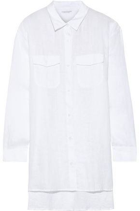 MAJESTIC FILATURES Oversized linen shirt