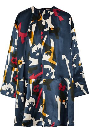 ROKSANDA Natani printed silk-satin mini dress