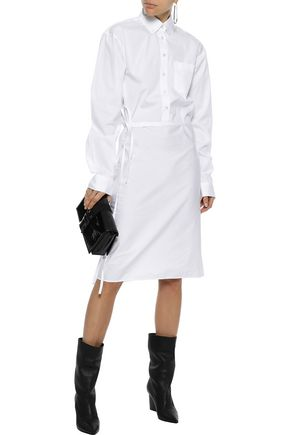 VETEMENTS Layered cotton-poplin shirt dress