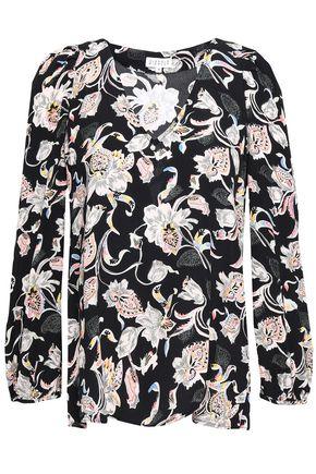CLAUDIE PIERLOT Floral-print crepe de chine blouse
