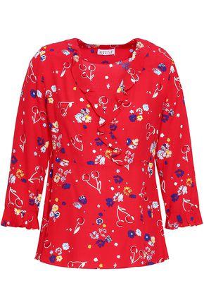CLAUDIE PIERLOT Floral-print crepe blouse