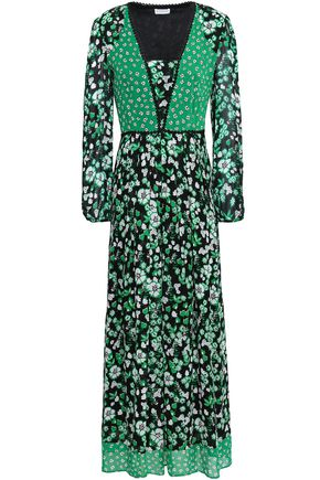 CLAUDIE PIERLOT Floral-print georgette maxi dress