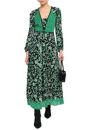CLAUDIE PIERLOT Floral-print georgette maxi dress 187d9aa19