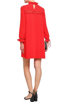 CLAUDIE PIERLOT Pleated jacquard mini dress
