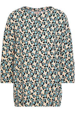 MARNI Floral-print crepe de chine blouse