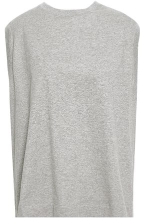MARNI Tie-back mélange cotton-jersey top