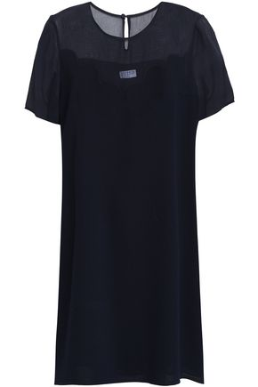 CLAUDIE PIERLOT Roi paneled crepe and chiffon mini dress