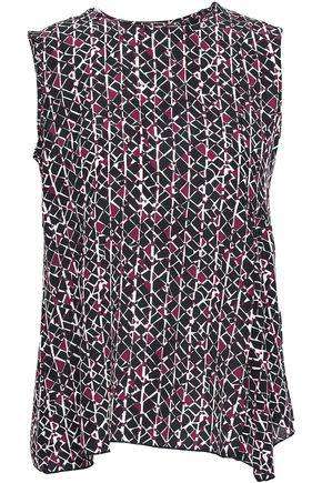 4379e8fe40785b MARNI Asymmetric printed silk crepe de chine top