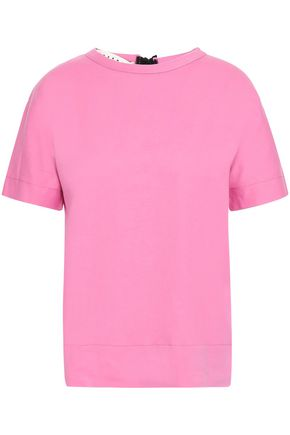 MARNI Tie-back cotton-jersey T-shirt