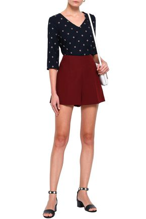 CLAUDIE PIERLOT Barth embroidered cady top