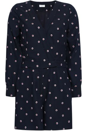 CLAUDIE PIERLOT Jericho embroidered cady playsuit