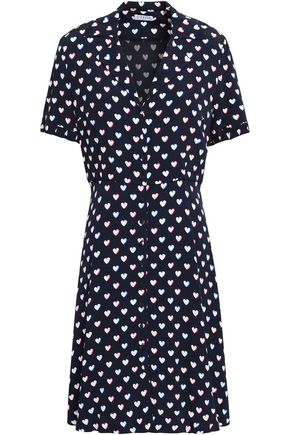 CLAUDIE PIERLOT Ruffle-trimmed floral-print crepe dress