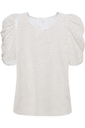 CLAUDIE PIERLOT Buddy bow-embellished cutout lace top