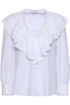 CLAUDIE PIERLOT Ruffled cotton blouse