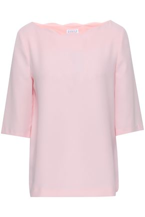 CLAUDIE PIERLOT Bahia scalloped cady top