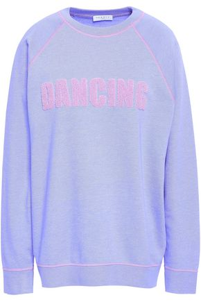 f934ea7ece9e SANDRO Flocked French cotton-blend terry sweatshirt