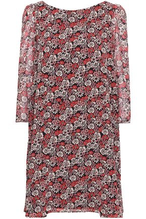 CLAUDIE PIERLOT Floral-print georgette mini dress