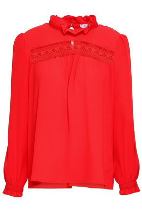 CLAUDIE PIERLOT Ruffled jacquard blouse