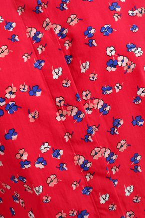 CLAUDIE PIERLOT Ruffled floral-print cotton-poplin shirt