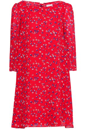 CLAUDIE PIERLOT Ruffled floral-print georgette mini dress