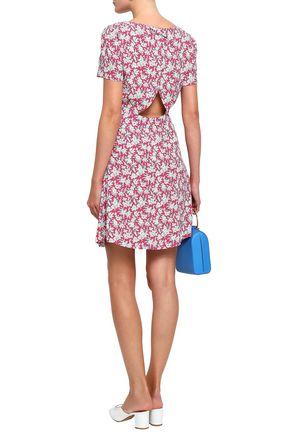 CLAUDIE PIERLOT Open-back printed crepe mini dress