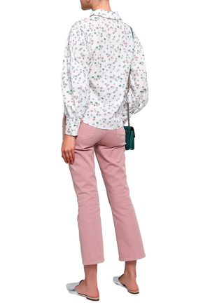 CLAUDIE PIERLOT Floral-print cotton-poplin shirt