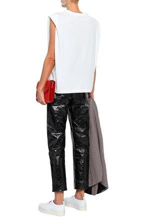 SANDRO Embroidered cotton-jersey tank