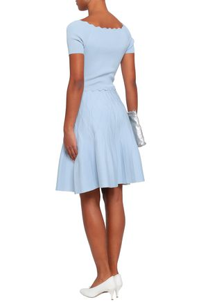 SANDRO Fluted knitted dress