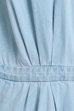 JOIE Cotton and silk-blend chambray midi shirt dress