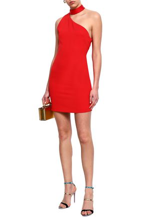 ALICE + OLIVIA Soshana one-shoulder crepe mini dress
