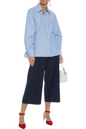 ROSETTA GETTY Tie-back striped poplin shirt