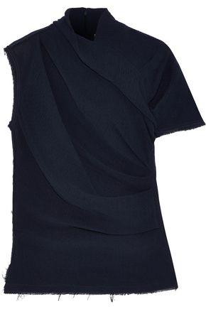 NINA RICCI Gathered cotton-gauze top