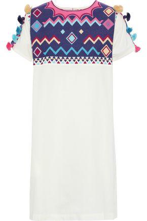 FIGUE Penelope embroidered cotton-poplin mini dress