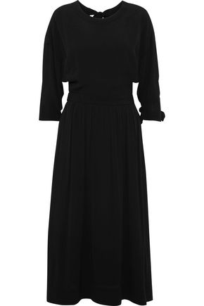 ROSETTA GETTY Open-back crepe midi dress