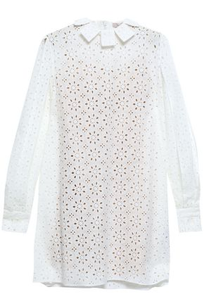 CHRISTOPHER KANE Broderie anglaise cotton mini dress