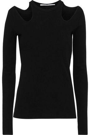 ROSETTA GETTY Cutout cotton-jersey top