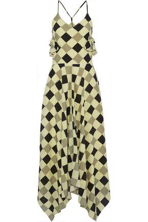 NINA RICCI Printed silk crepe de chine maxi dress