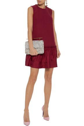 ROKSANDA Tanaga ruffled satin-paneled silk-blend crepe mini dress