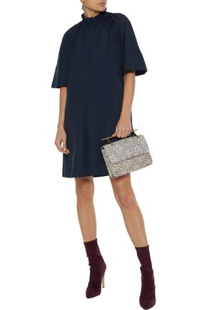 ROKSANDA Daena gathered cotton-poplin mini dress