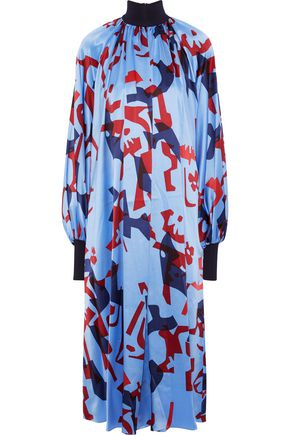 ROKSANDA Cressida printed silk-satin midi dress